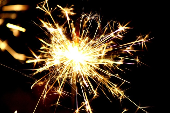 single sparkler for IGNITE BLOG