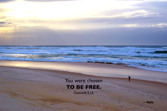 Beach -chosen to be free.